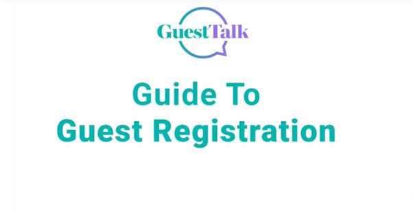 Help Videos - Guest Registration