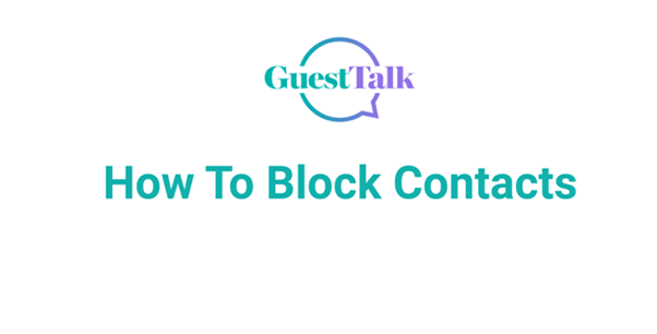 Help Videos - How To Block Contacts